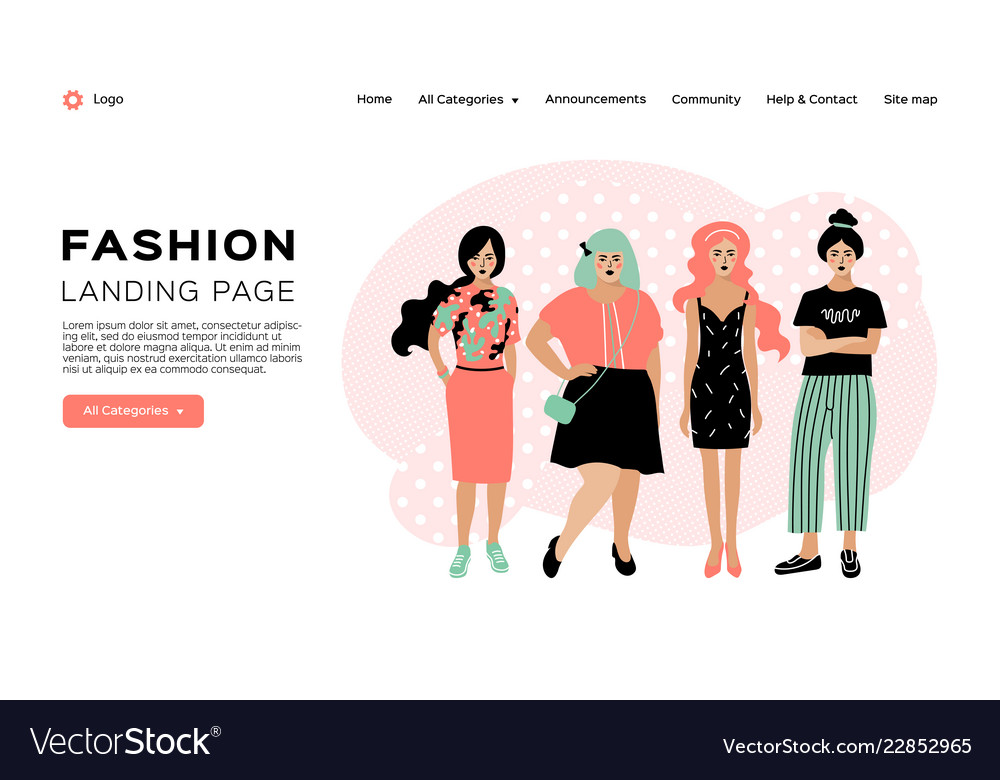 Fashion landing page clothing store web template