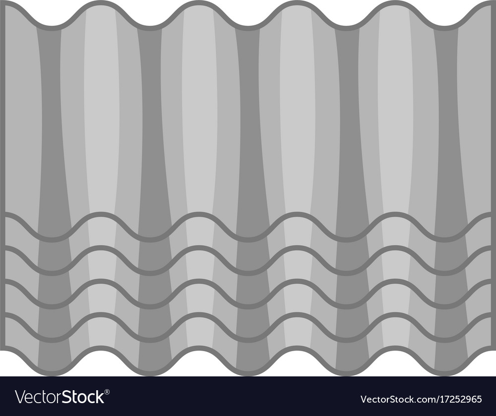 Grey roof icon cartoon style