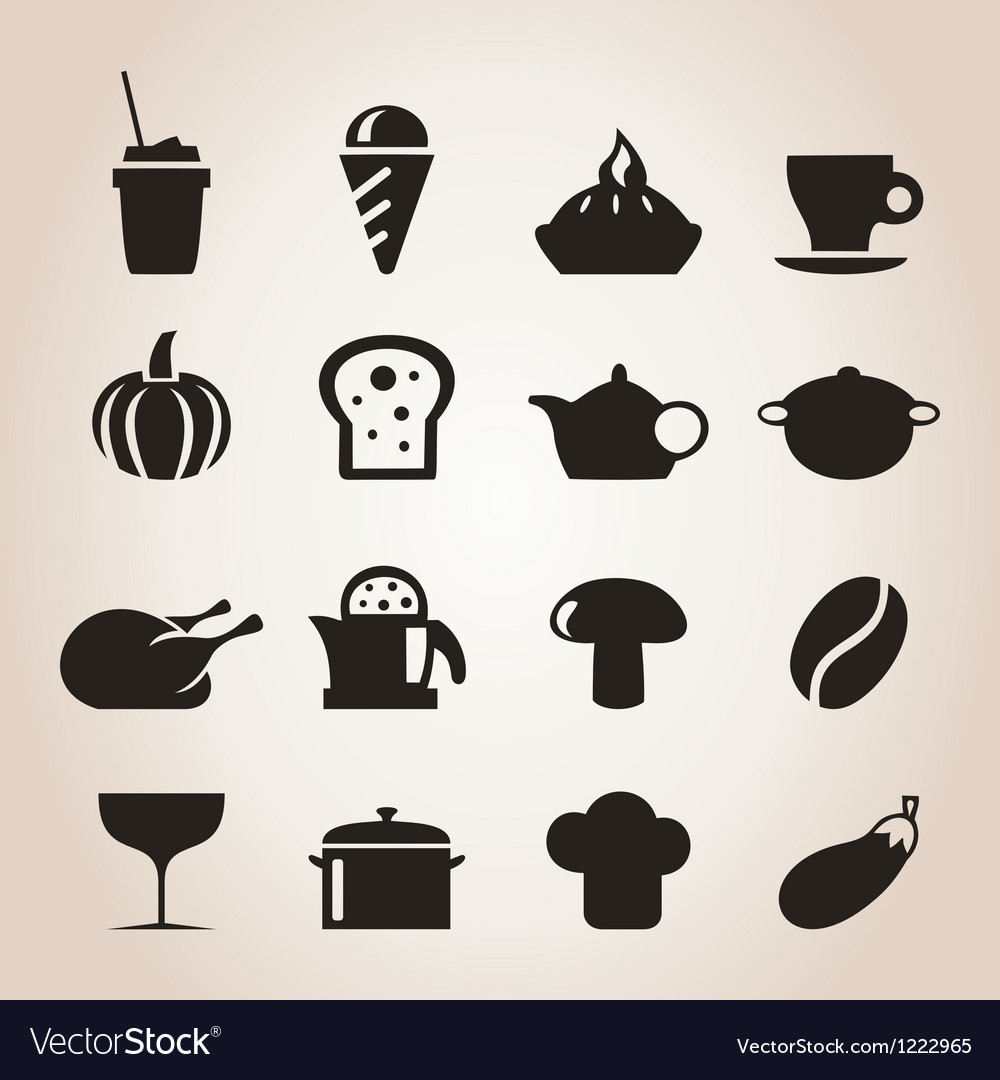 Meal icons7 vector image