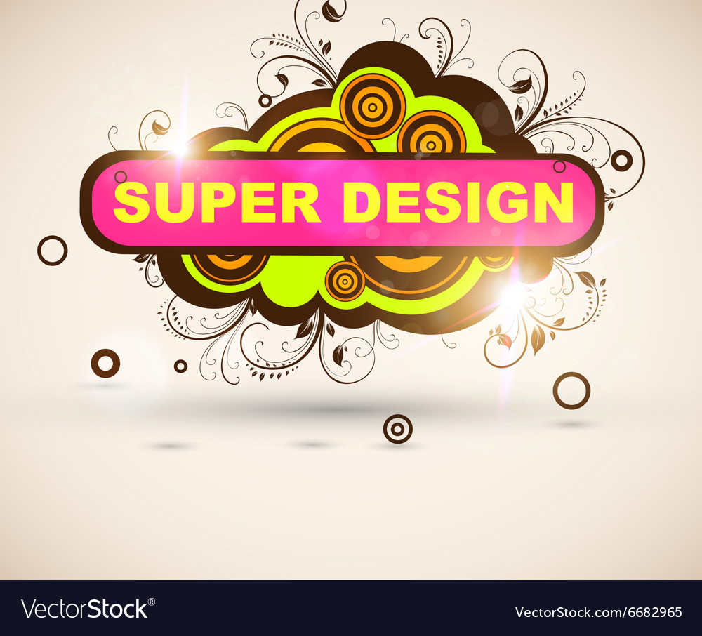 Super Floral Grunge Design