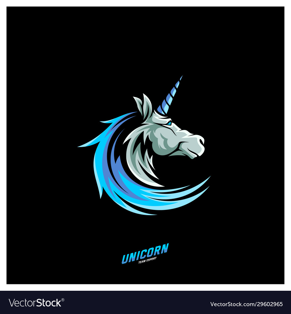 Unicorn Esport Gaming Mascot Logo Template Vector Image