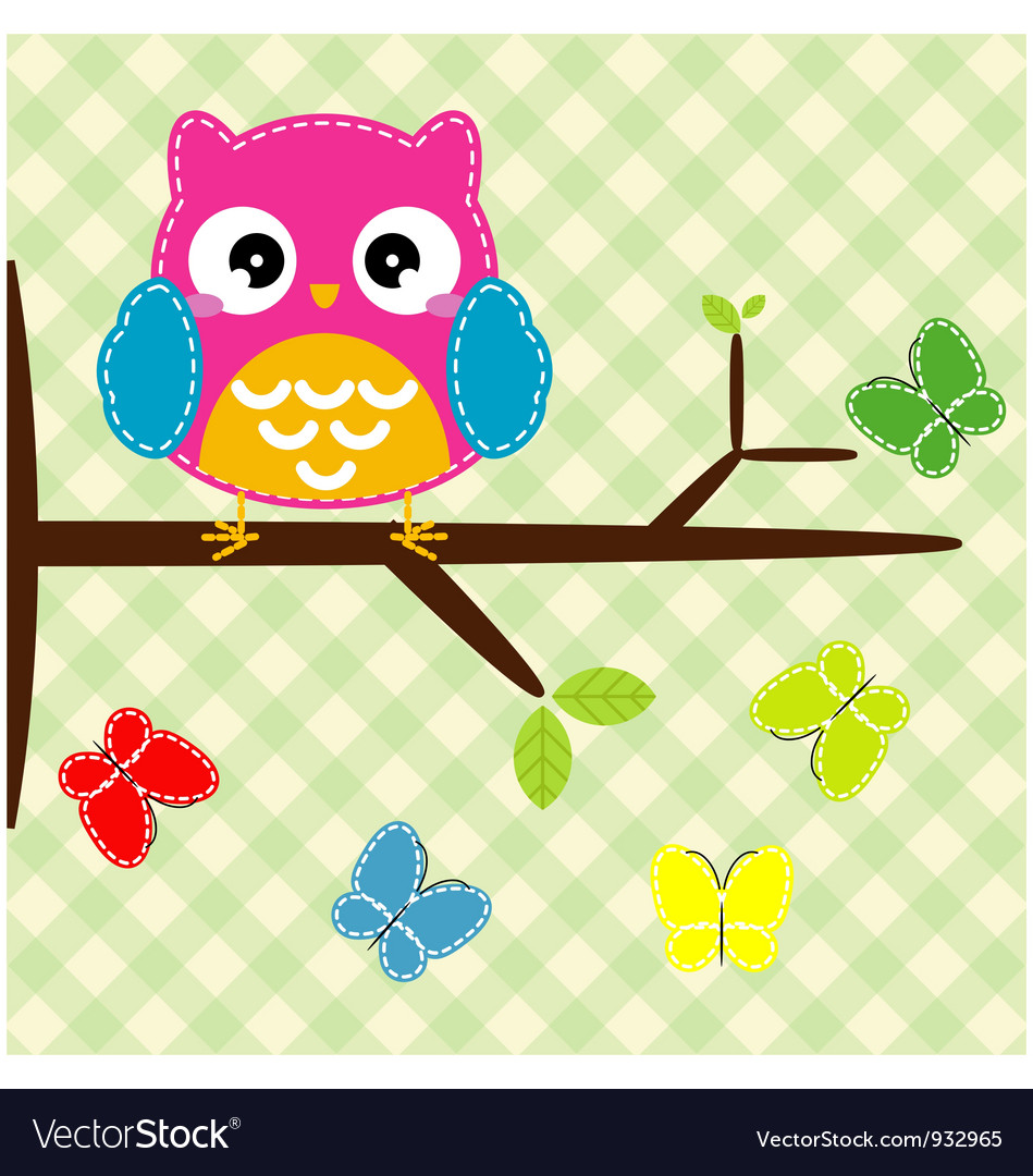 Whimsical owl vector image
