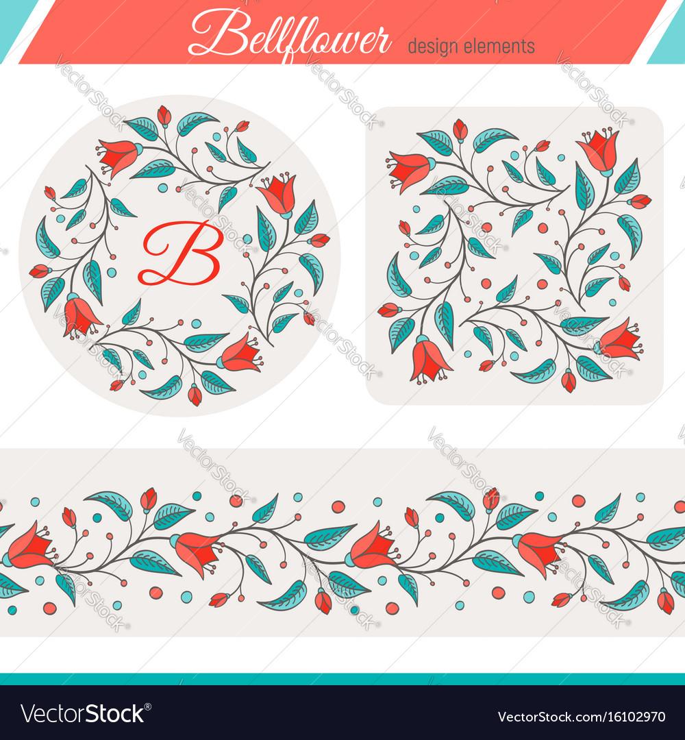 Bellflower floral elements wedding design