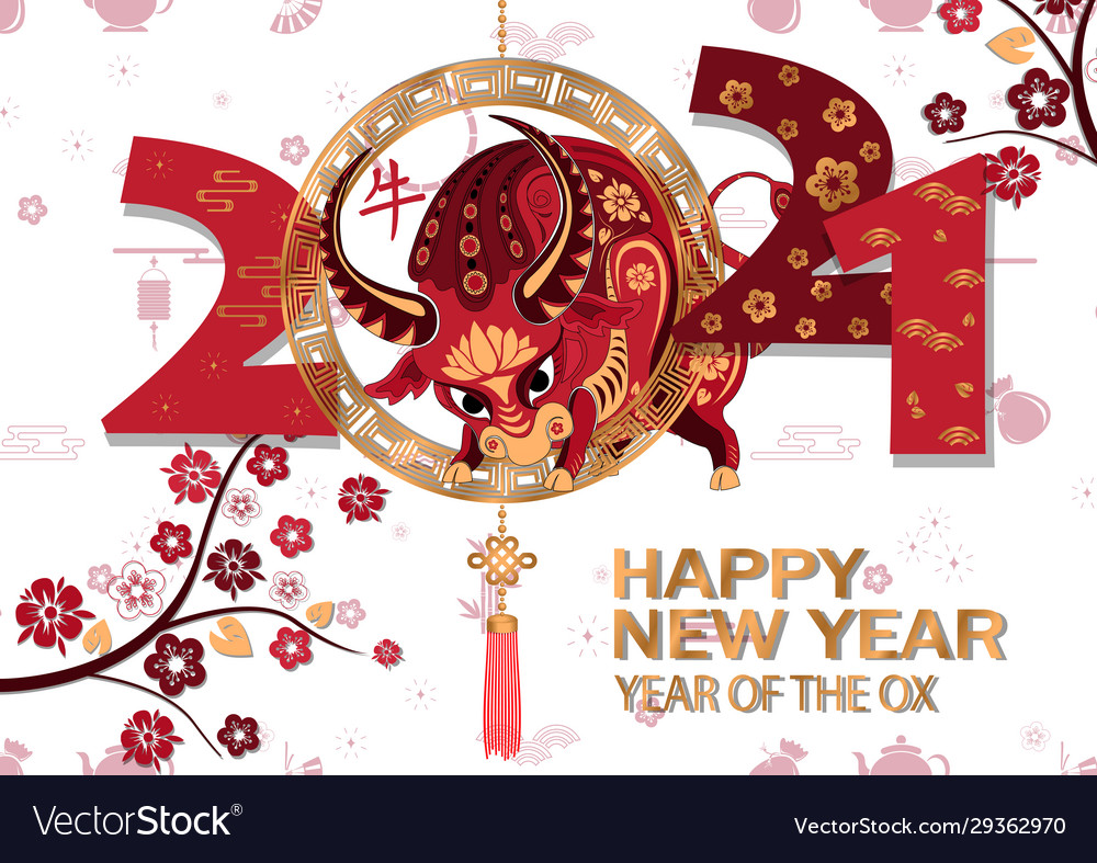 chinese new year 2021 background chinese vector image vectorstock