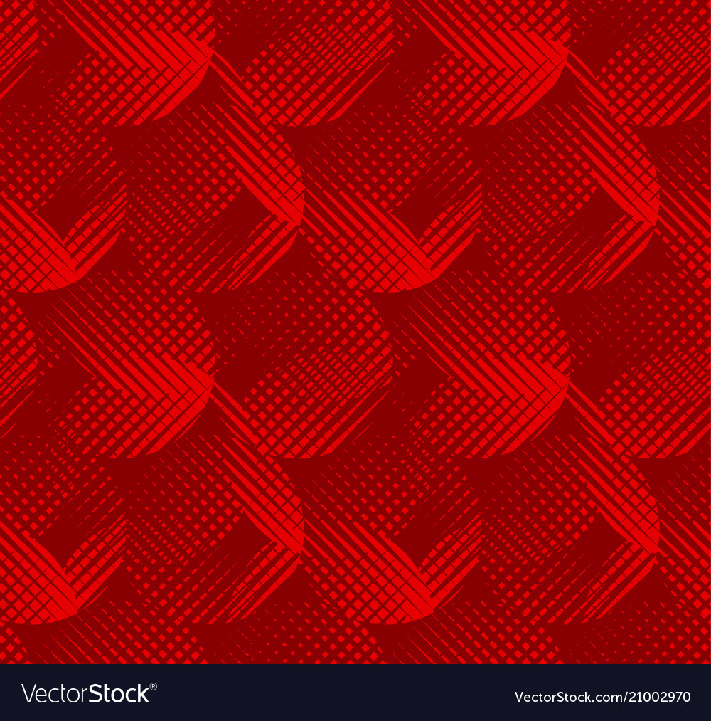 Concept round red geometric seamless pattern