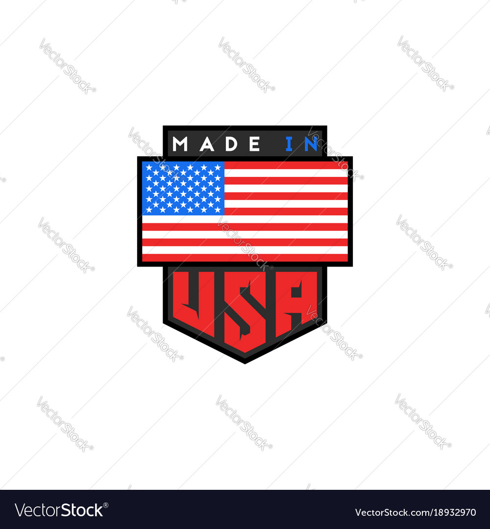 made in usa logo design american quality vector image rh vectorstock com made in usa logo maker made in usa logo small