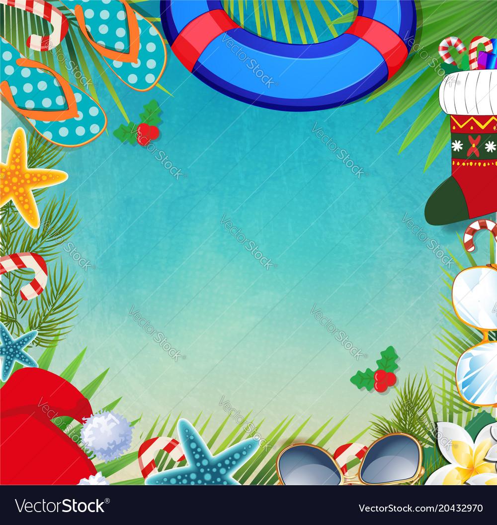 Hawaiian Christmas Vector Images 31