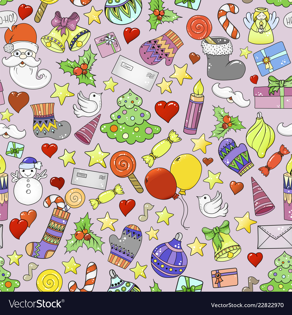 Merry christmas seamless pattern for holiday