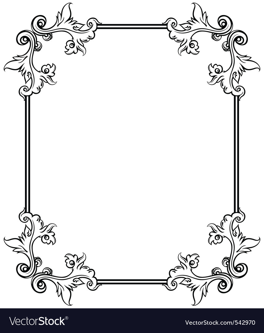 Simple decorative frame Royalty Free Vector Image