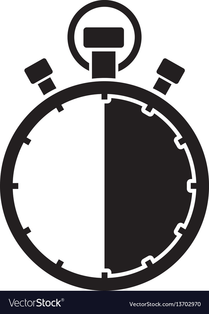 stopwatch thirty minute royalty free vector image