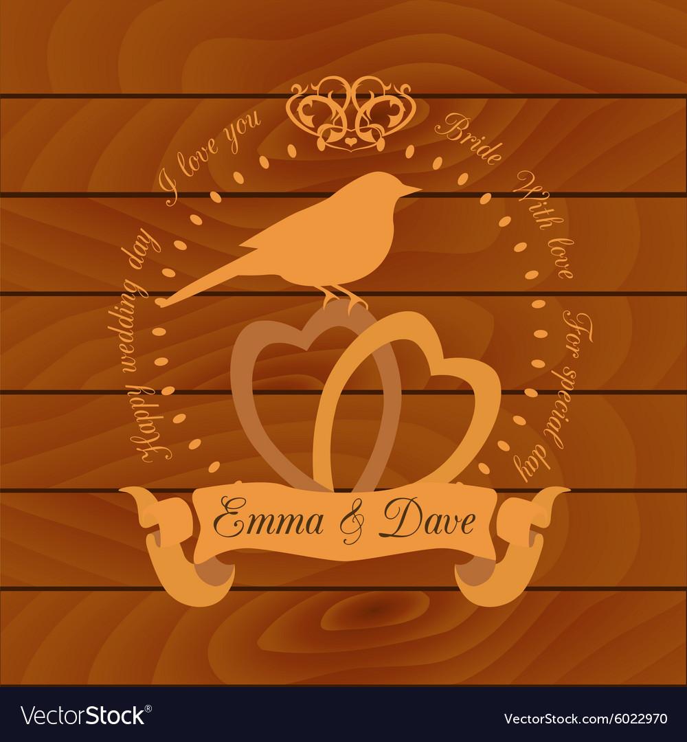 Wedding invitation design template card save the