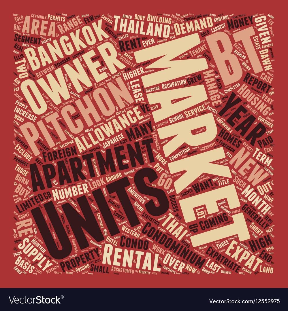 Bangkok Rental Market Thrives text background vector image