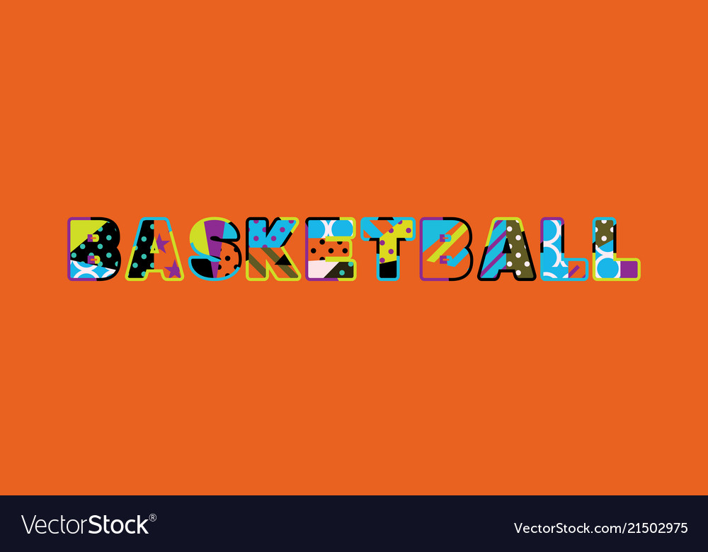 basketball concept word art royalty free vector image