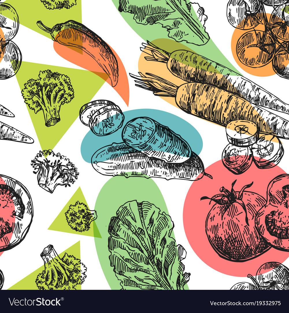 Beautiful hand drawn vegetable