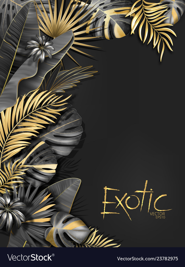 Exotical background with black and gold