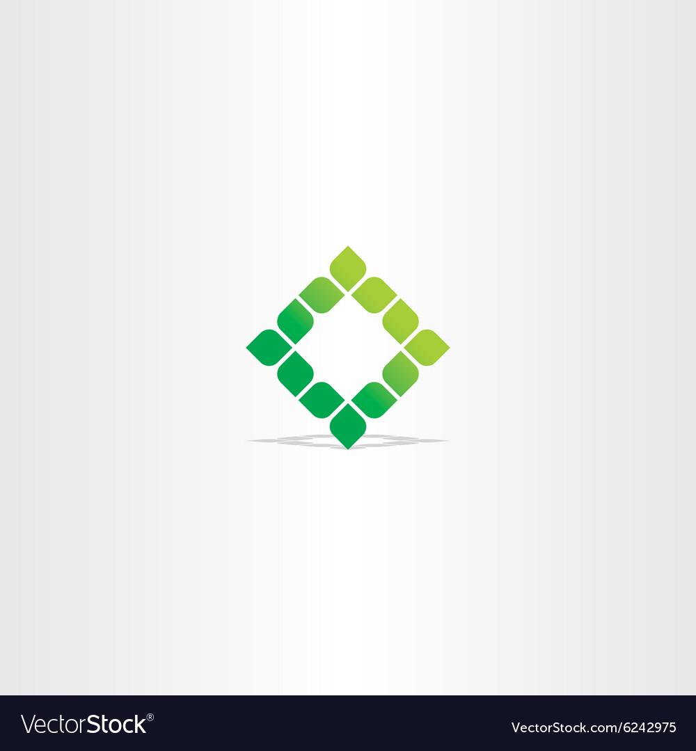 Green square leaf logo icon