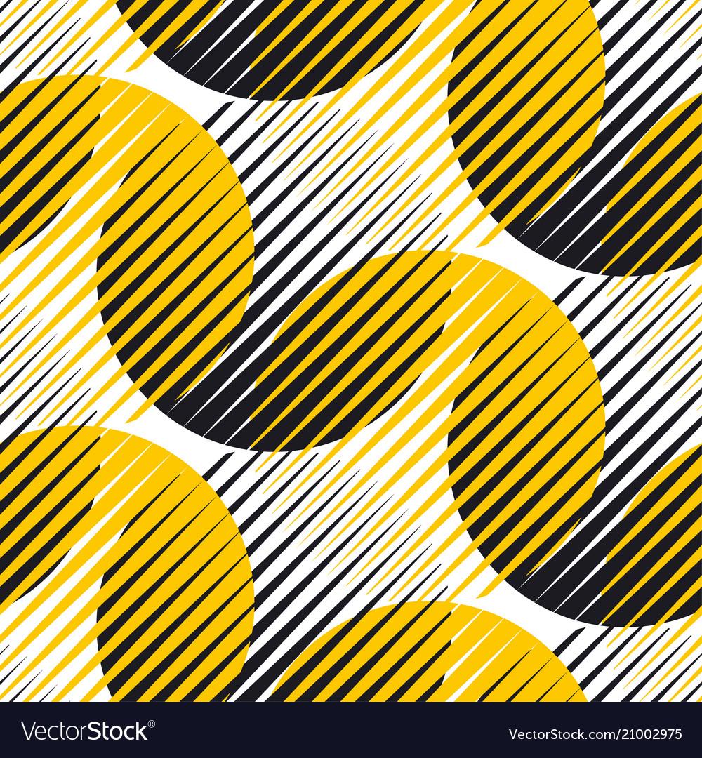 Line and circle geometric seamless pattern
