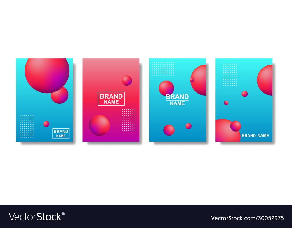 Liquid abstract backgrounds color covers set