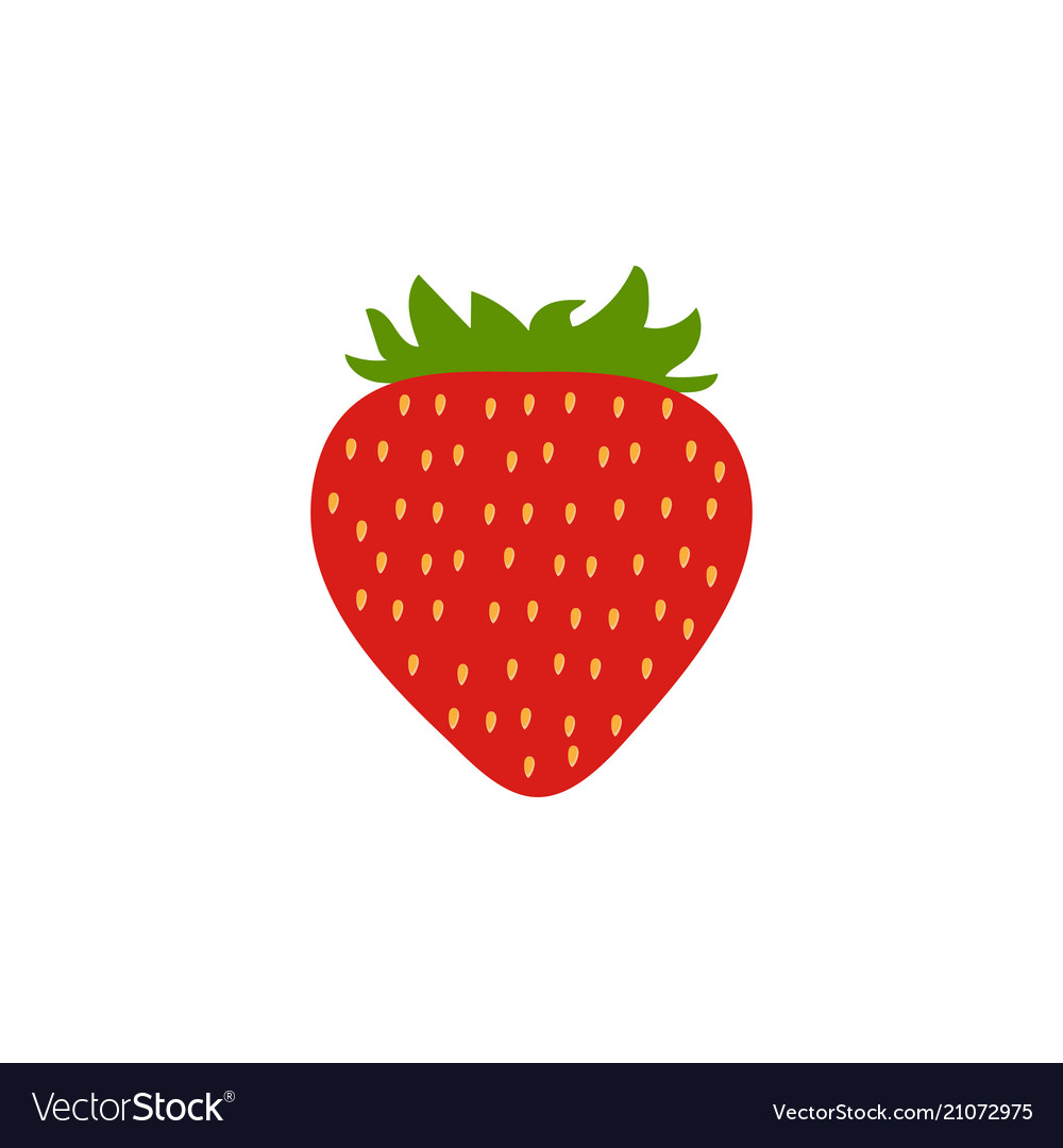 Red strawberry icon isolated background modern s