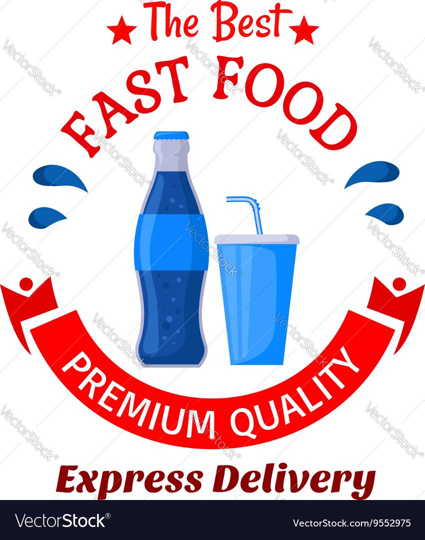 Soda drinks symbol for fast food cafe design