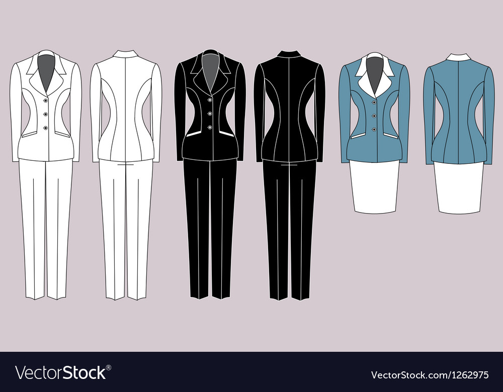 Womens Suits Royalty Free Vector Image Vectorstock