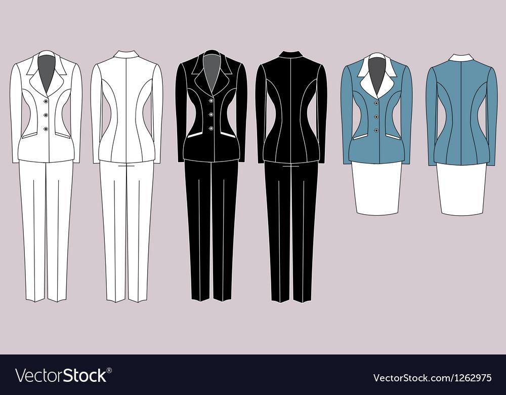 Womens Suits Royalty Free Vector Image Vectorstock