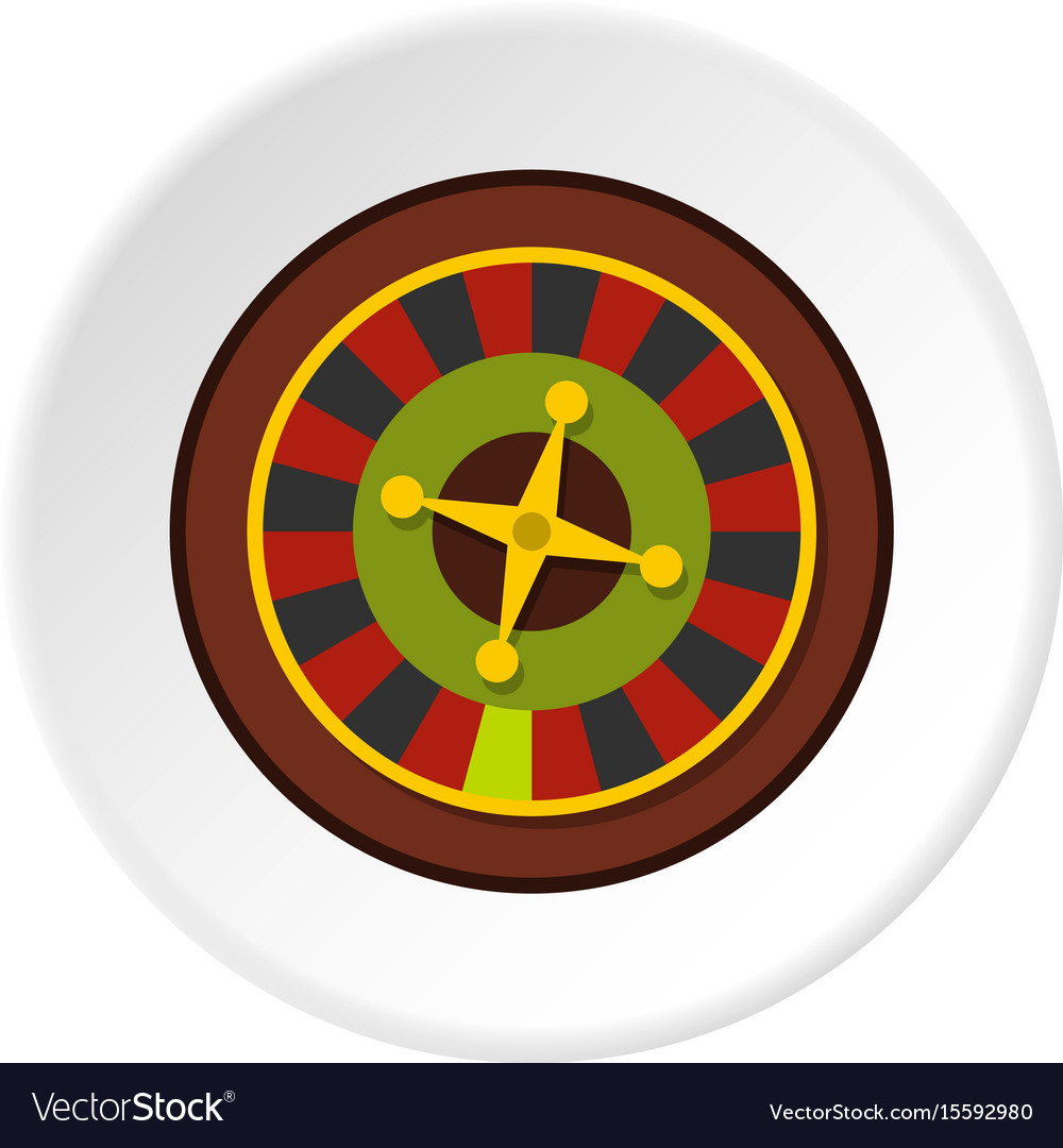 Casino gambling roulette icon circle vector image
