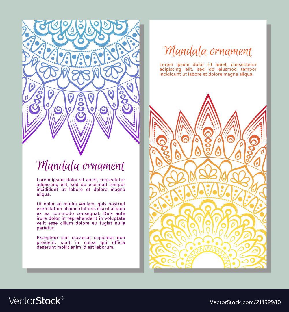 Colorful ornamental ethnic banner set