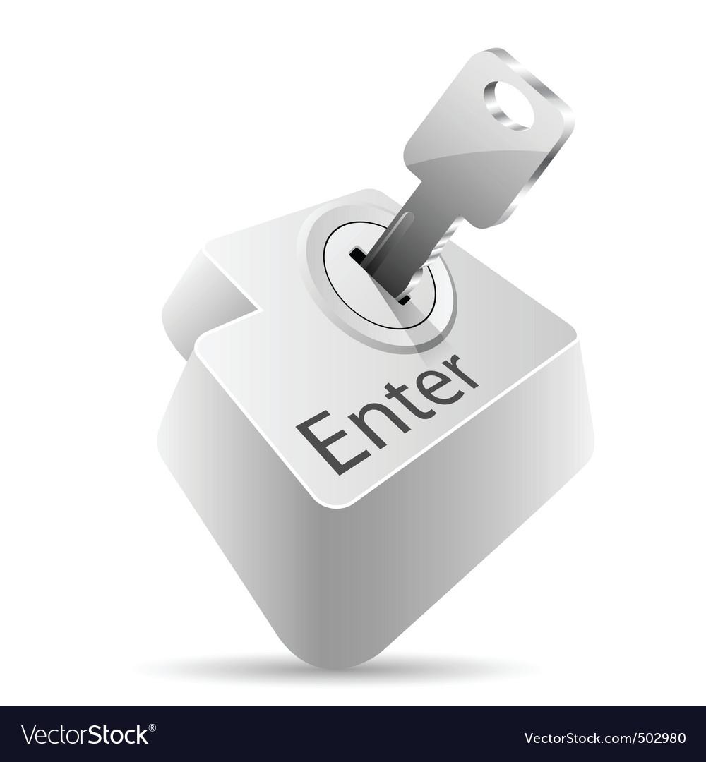 Computer folder with key