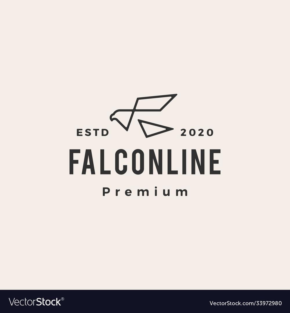 Falcon hipster vintage logo icon