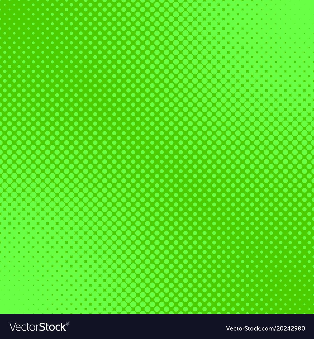 Green retro halftone dot pattern background