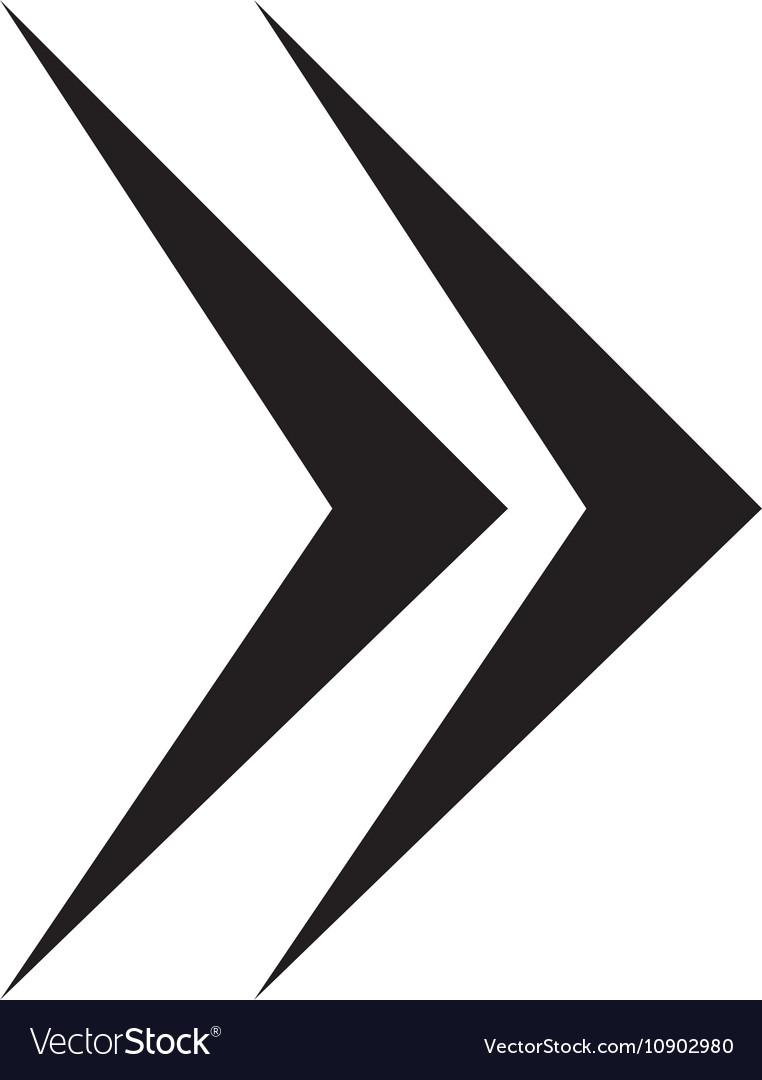 Next Arrow Symbol Royalty Free Vector Image Vectorstock