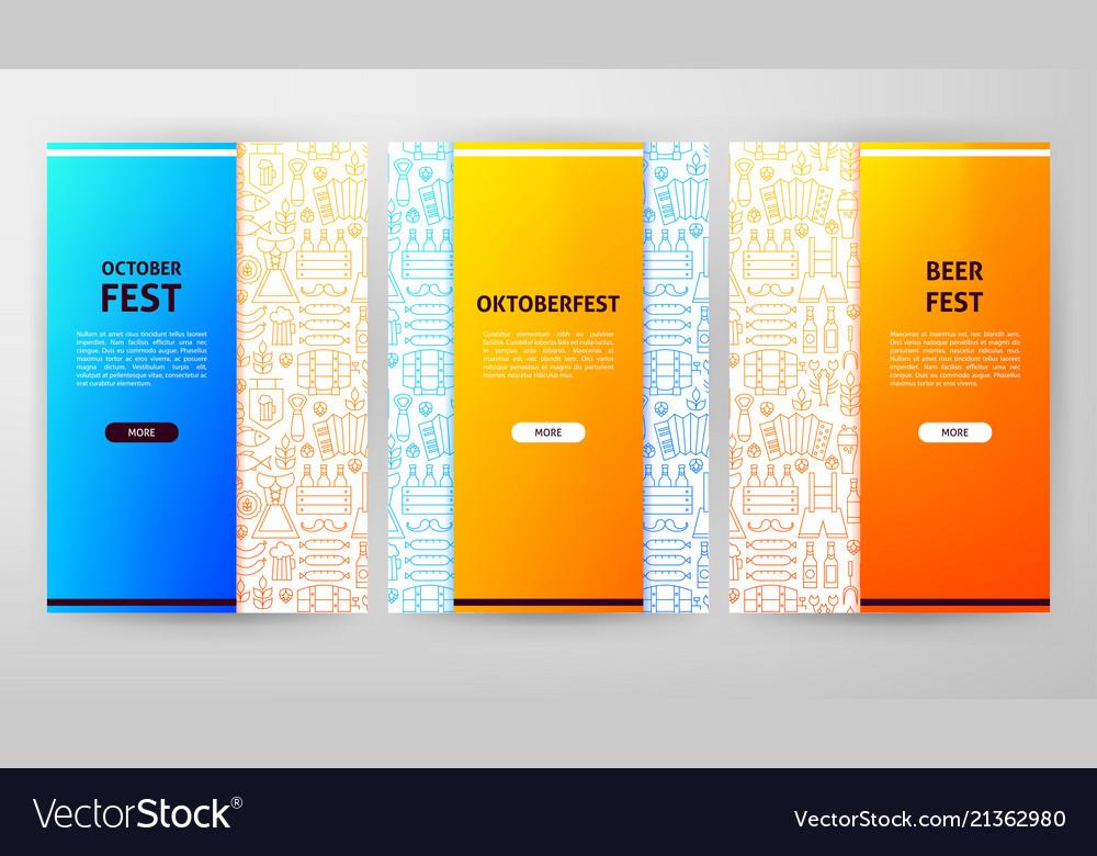 Oktoberfest brochure web design