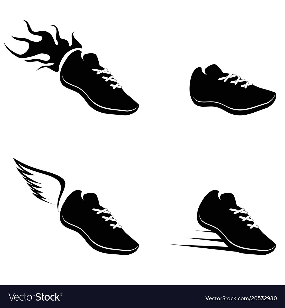 Royalty Vectorstock Vector Shoes Running Image Free Icon CexdroB