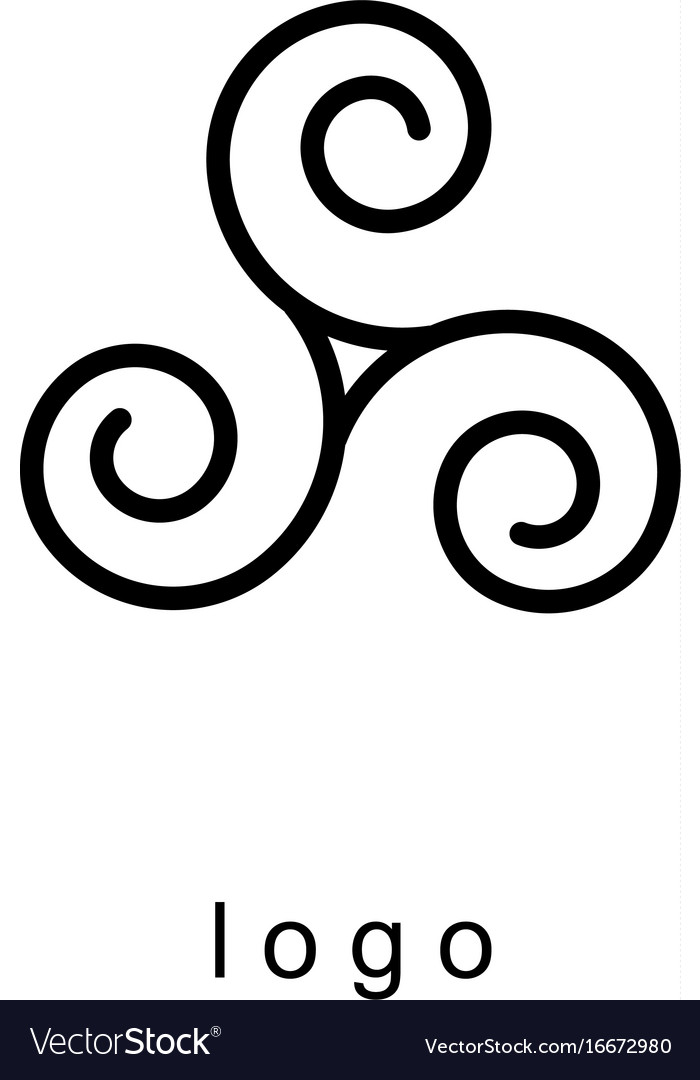 Triple spiral logo template