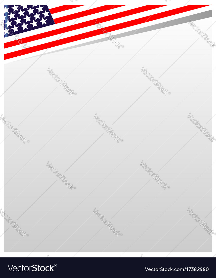 Usa flag frame Royalty Free Vector Image - VectorStock