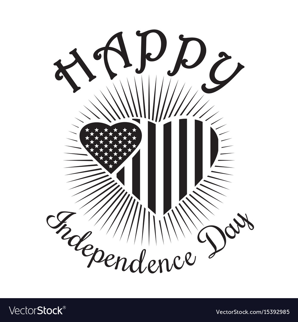 Happy independence day of america us flag vector image