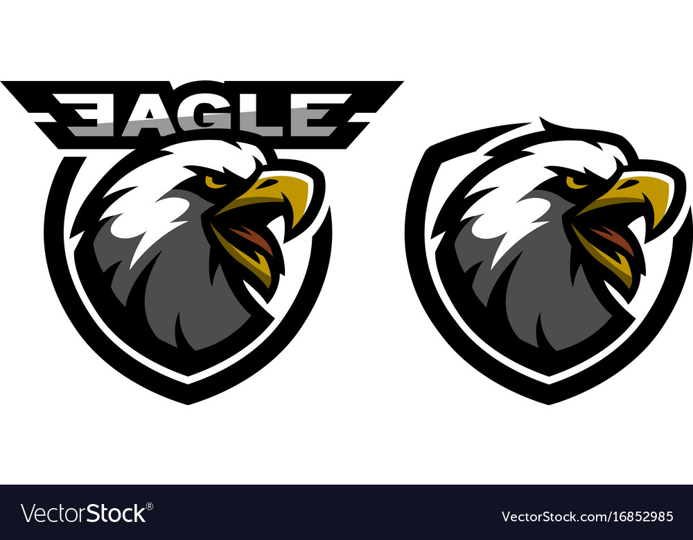 Head of the eagle sport logo two versions
