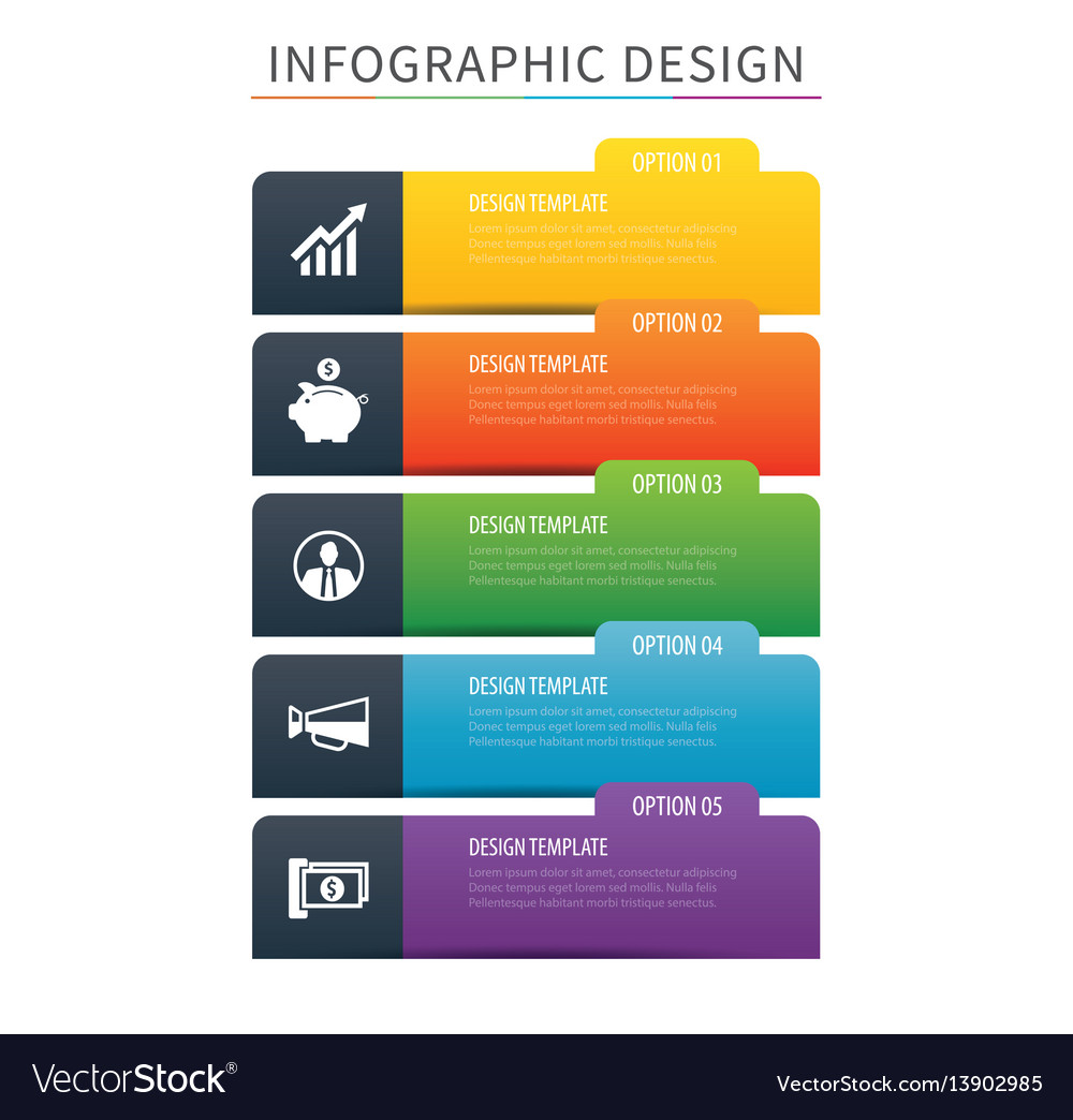 Infographics tab index 5 option template