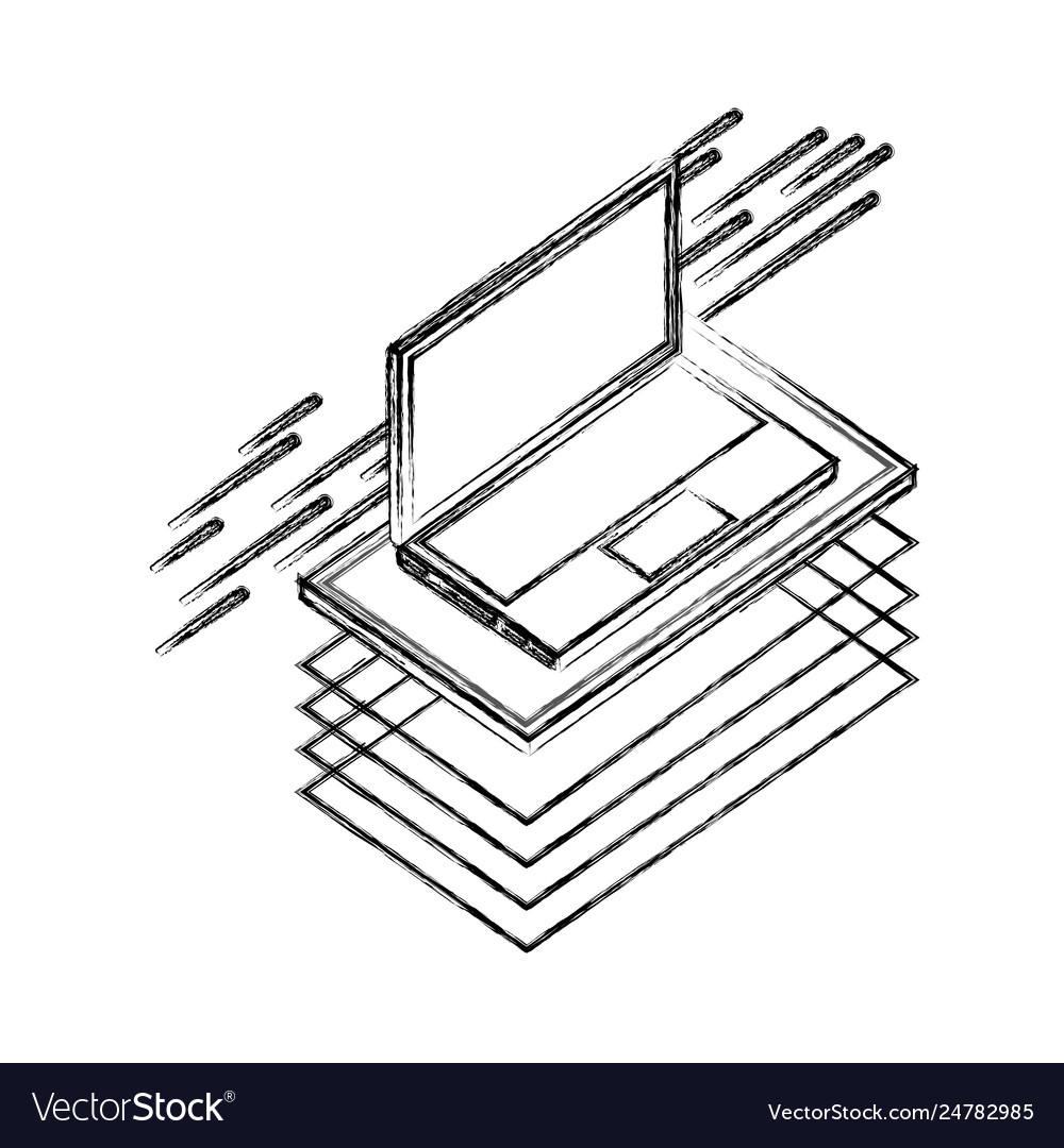 Laptop computer isometric device digital