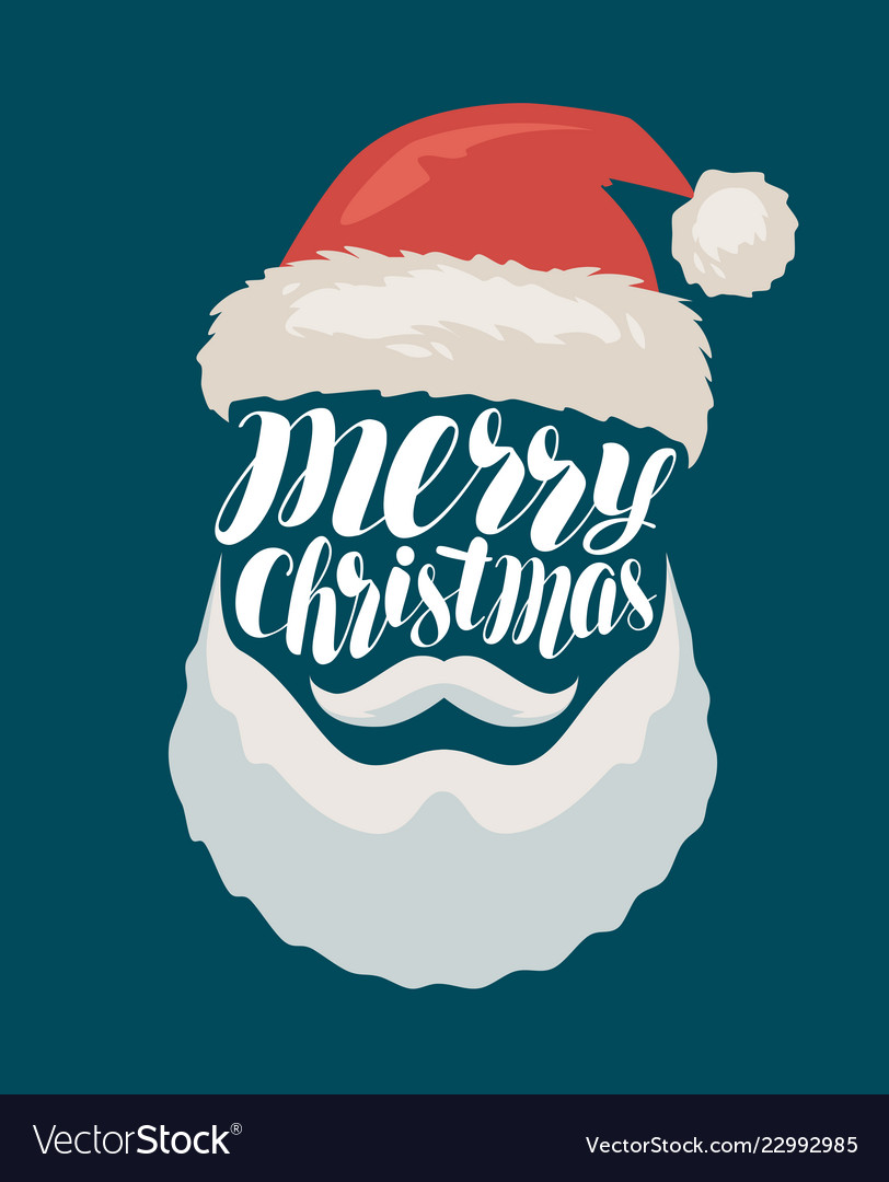 Merry christmas banner or greeting card santa