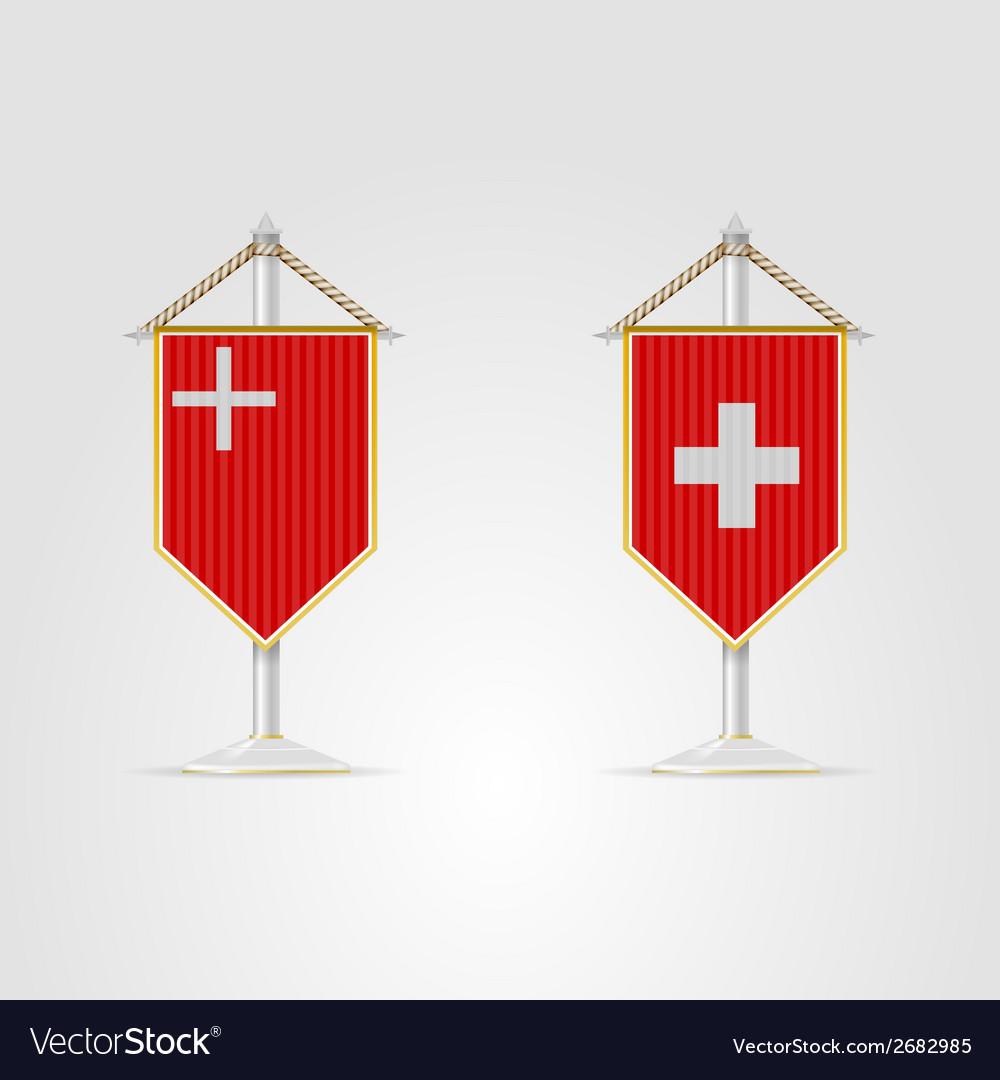 National Symbols Of Switzerland Royalty Free Vector Image