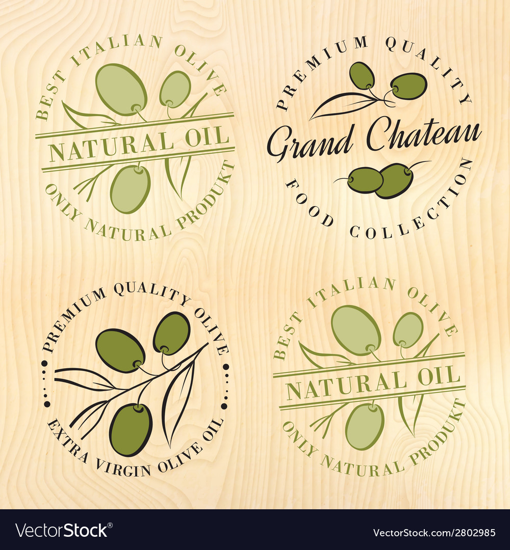 Natural olive oil labels