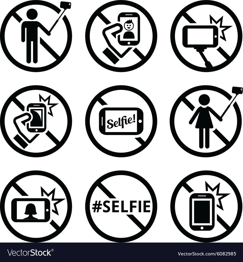 No selfies no selfie sticks signs