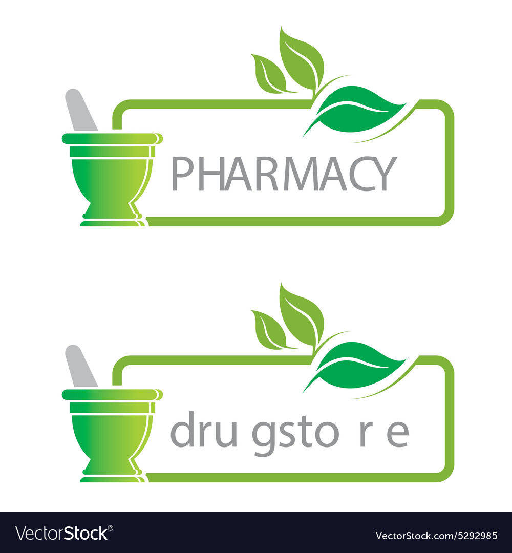 Pharmacy mashed drugs organic product icon vector image