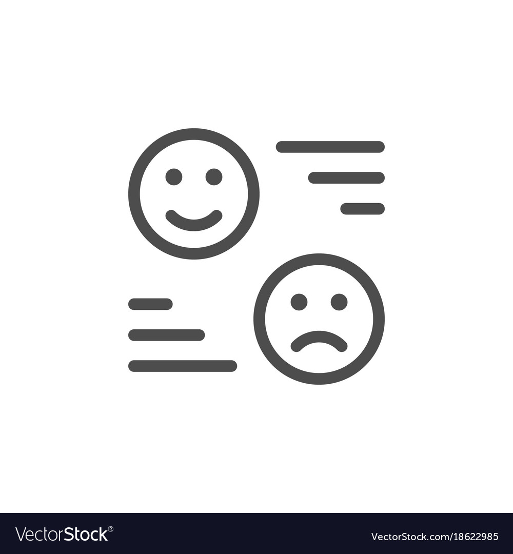 Rating line icon vector image