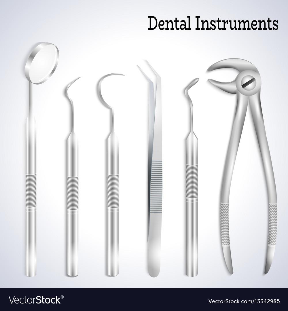 Realistic dentist tools