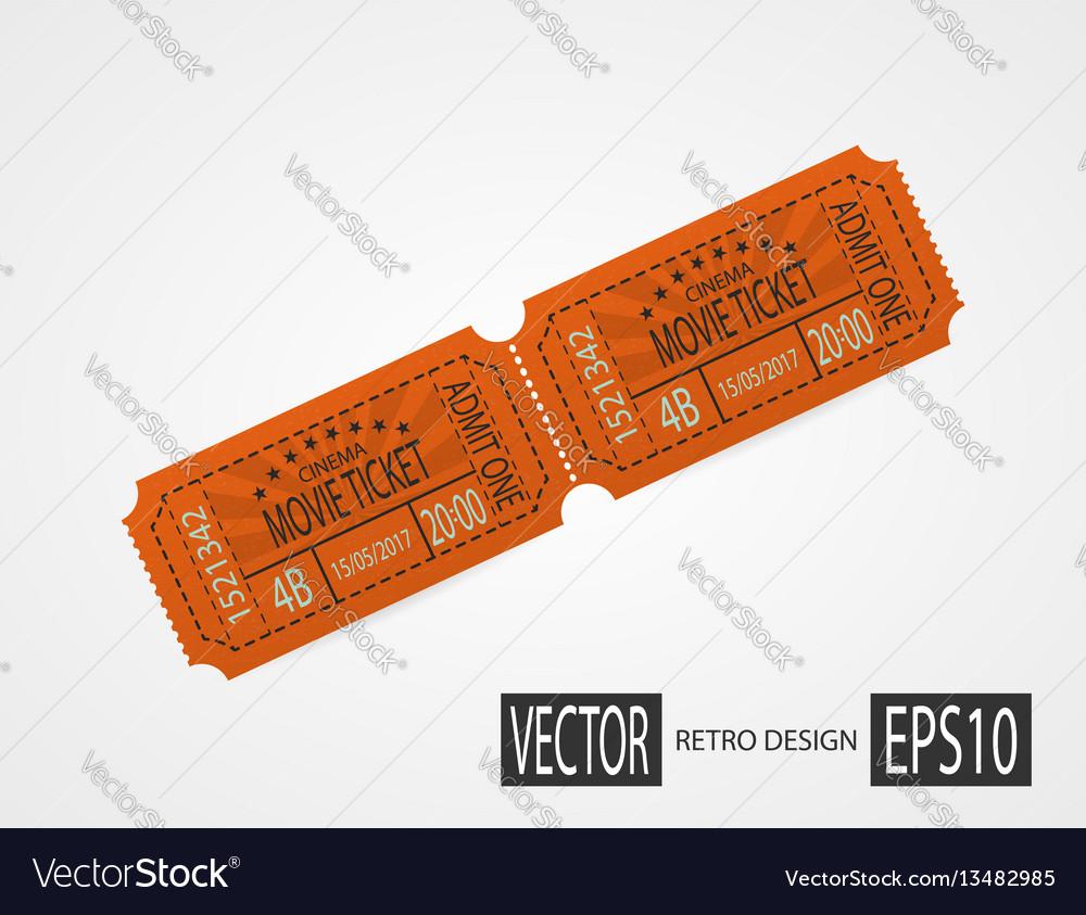 Retro cinema tickets orange design
