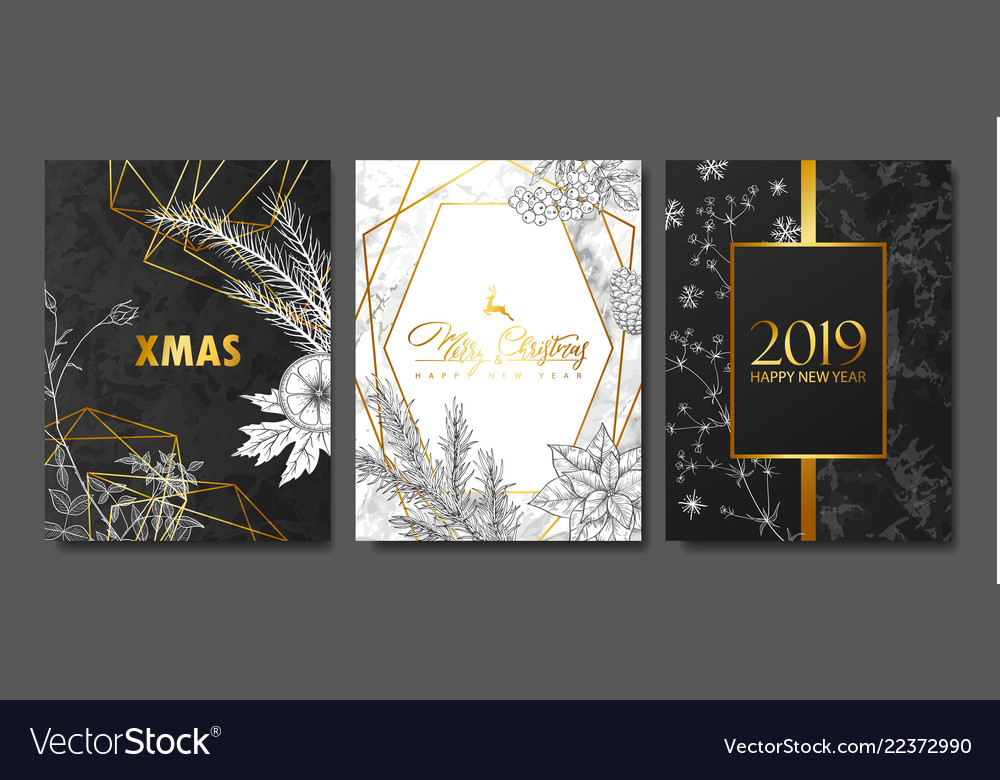 2019 merry christmas and happy new year luxury