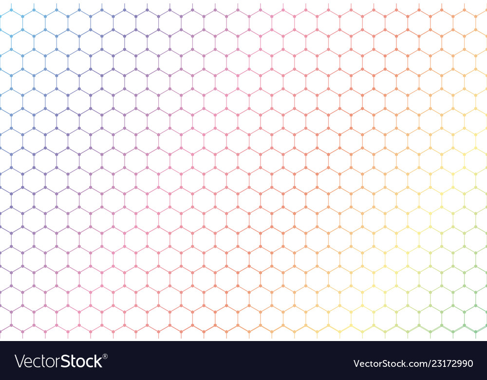 Abstract colorful hexagons seamless pattern on